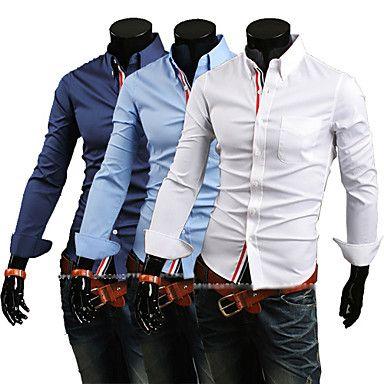 Mænds Trendy Slim Knit Shirt – DKK kr. 106