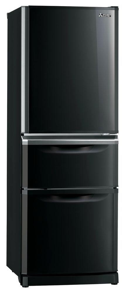 Mitsubishi Electric 375L Onyx Black Refrigerator