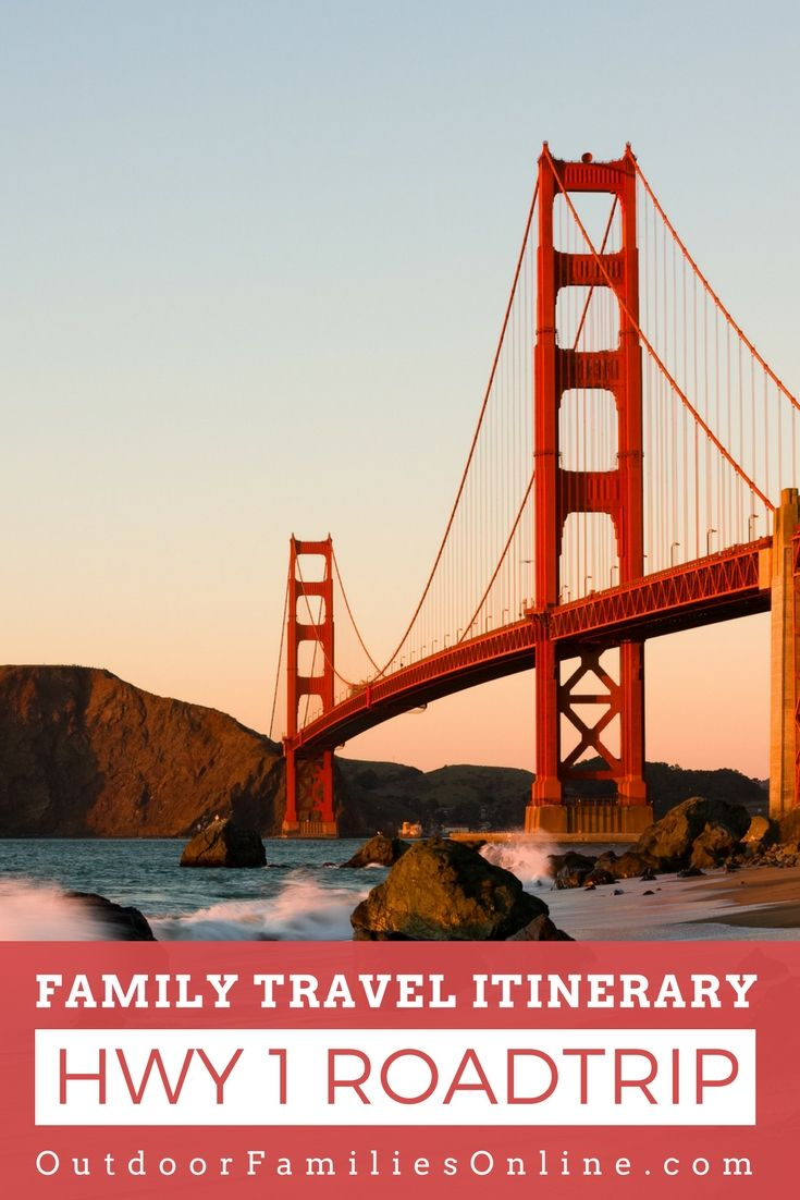 The ultimate planning guide for a California Pacific Coast Highway 1 Road Trip that sightseeing stops, things to do, places to eat, and where to stay. This in-depth Route 1 family road trip itinerary will help you plan the ultimate road trip. Plus tips for traveling with kids. This is the perfect family vacation road trip guide to see stunning pacific ocean coastline, massive redwoods, and charming coastal towns. |  http://www.outdoorfamiliesonline.com/pacific-coast-highway-family-road-trip