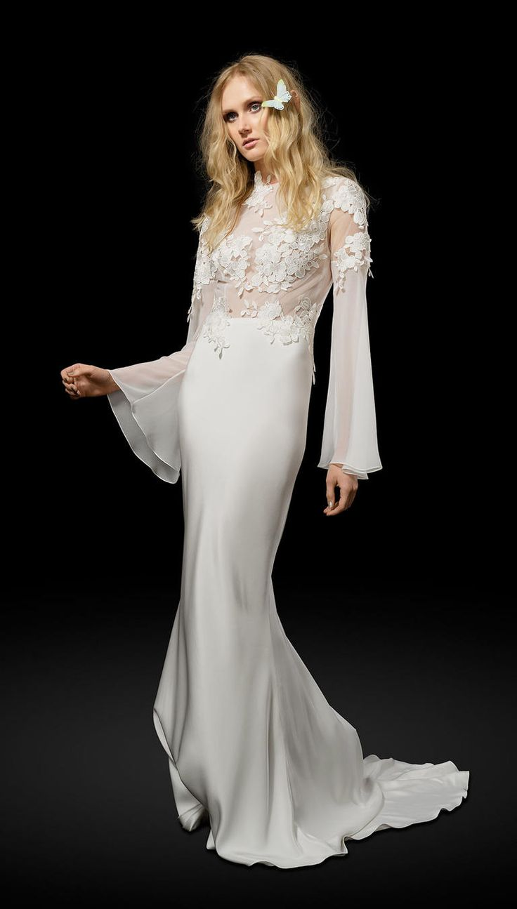 Elizabeth Fillmore Spring 2017 | https://www.theknot.com/content/elizabeth-fillmore-wedding-dresses-bridal-fashion-week-spring-2017