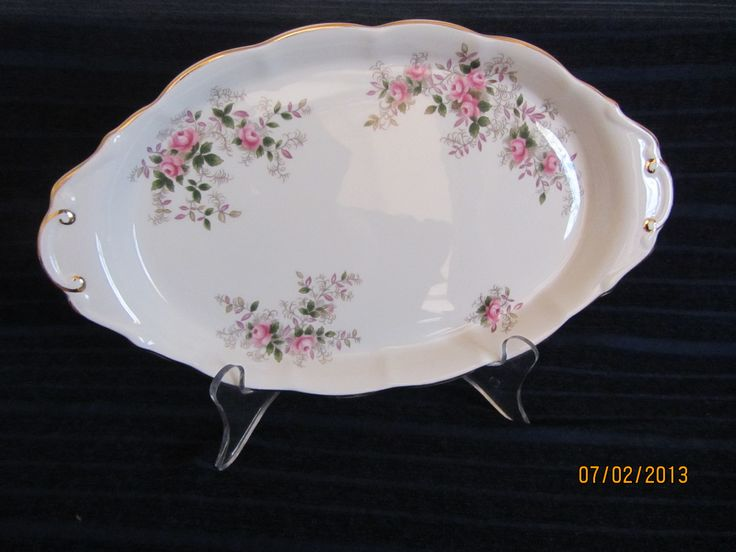 Royal Albert Serving Plate/Condiment Tray in 'Lavender Rose' $42.50 in our Ebay Shop or receive 10% discount if purchased from our Website www.generationsapart.com.au