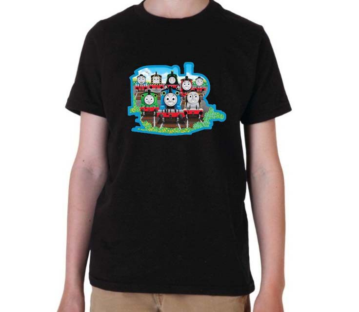 Thomas tank engine Clip graphic printed youth toddler tshirt