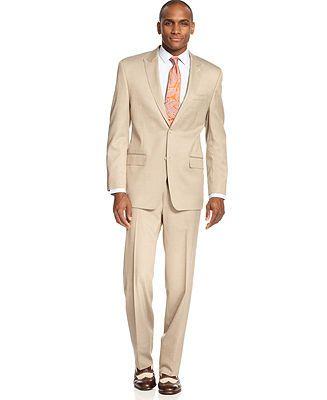 Sean John Tan Texture Suit Big and Tall - Suits - Men - Macy's