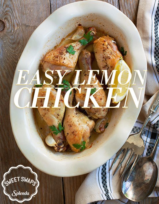 This Easy Lemon Chicken recipe uses SPLENDA® No Calorie Sweetener to swap out thick, sugary barbecue sauce for simple winter citrus.