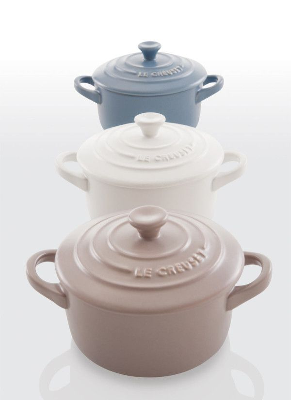 Matte Collection by Le Creuset .... I can't even... I just love it. I need a $1,000 windfall so I can have all of it. <3 <3