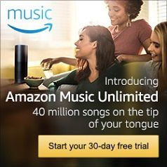 Get access to 40 million songs with Amazon Music Unlimited! New music, all the time! Start your 30-day free trial now! #ad