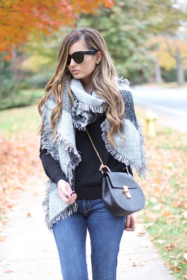 Basic Fall Staples: Cashmere Sweater + Blanket Scarf www.forallthingslovely.com