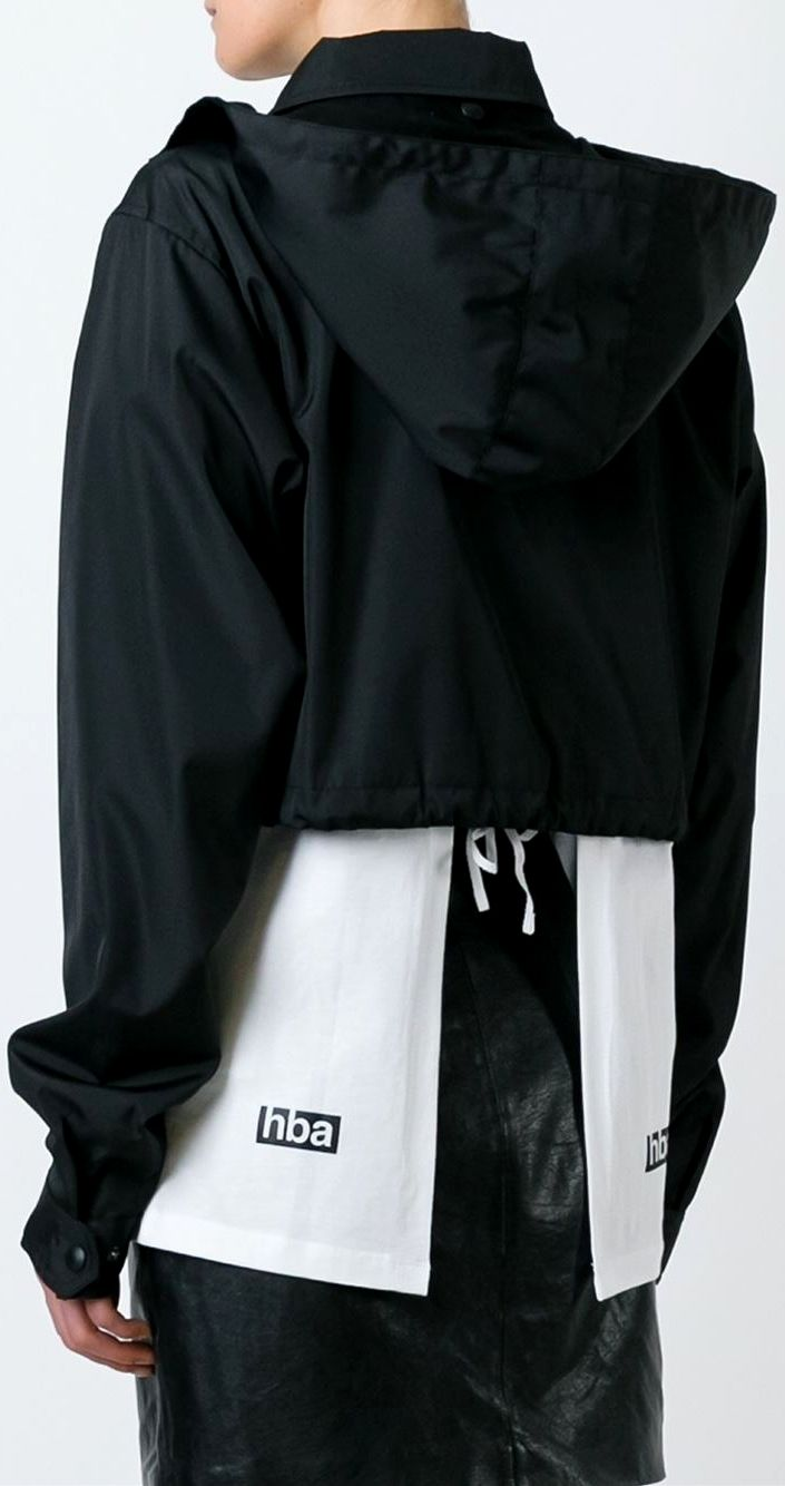 Hood By Air logo print cropped jacket