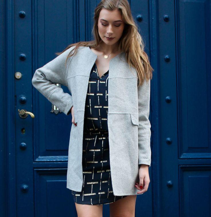 Mira dress in Dark Blue and Clarissa coat in Blue // Dea Kudibal // AW16 // La Femme Allure