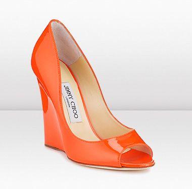 Jimmy ChooOrange, Fashion Shoes, Choo Wedges, Cities Wedges, Jimmy Choo, Leather Cities, Wedges Shoes, Girls Shoes, Wedges Sandals