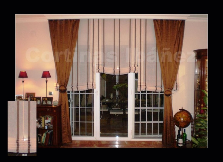 92 best images about cortinas on pinterest pique un and 2 - Estores con caidas ...