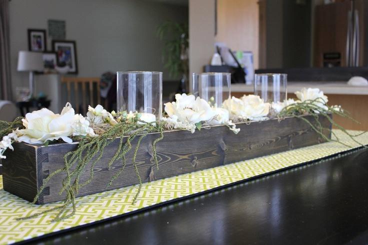 "Wood Table Centerpiece or Window Box, 48"" long. $50.00, via Etsy."