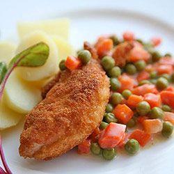 Klasyczne piersi kurczaka smażone w panierce | Kwestia Smaku