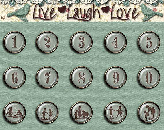 Digital Brads numbers and silhouette by MKLiveLaughLoveShop, $3.00