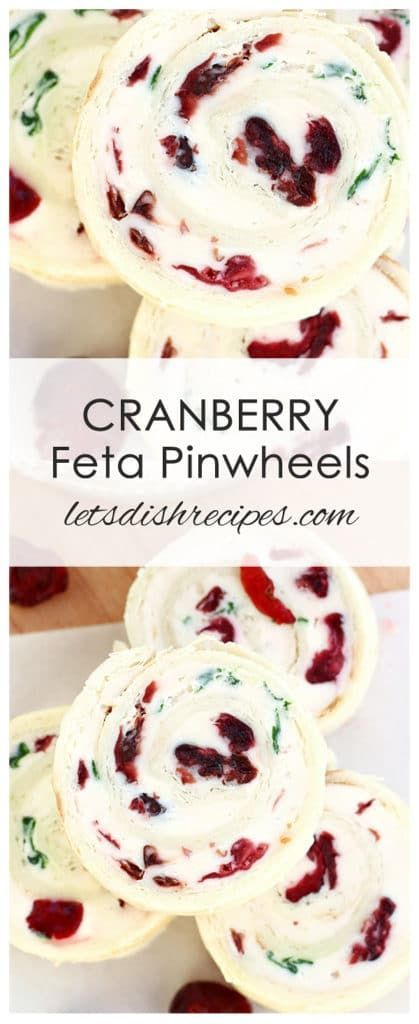 Cranberry Feta Pinwheels Recipe | Dried cranberrie…