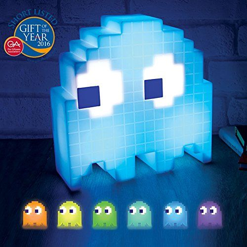This is something that every classic gamer should own: the Paladone PacMan Ghost Light USB Powered Multi-colored Lamp.  Price: $33.63 Only 4 left in stock so order soon!