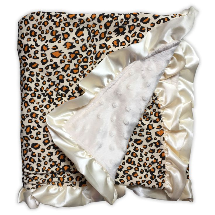 Cheetah Cream Minky Blanket