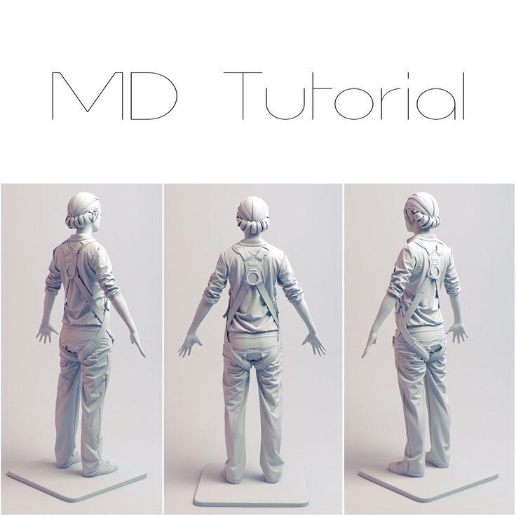 Marvelous Designer Tutorial (Easy), Madina Chionidi on ArtStation at https://www.artstation.com/artwork/16w9L