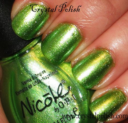 Nicole by OPI Make Mine Lime nail polish - (no, these are not my fingers) very cool color! Have managed not to bite my nails in about 3 1/2 weeks...I actually have nails...it's weird.
