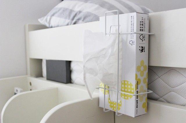 セリアのワイヤーティッシュボックスホルダー もう1つの使い方 Limia リミア ティッシュボックス 収納 アイデア インテリア 収納