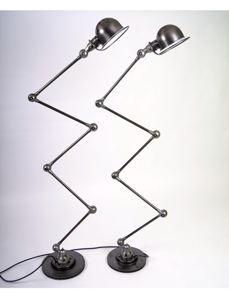 Jieldé 5 arms gulvlampe dark steel finnish Jean Louis Domecq
