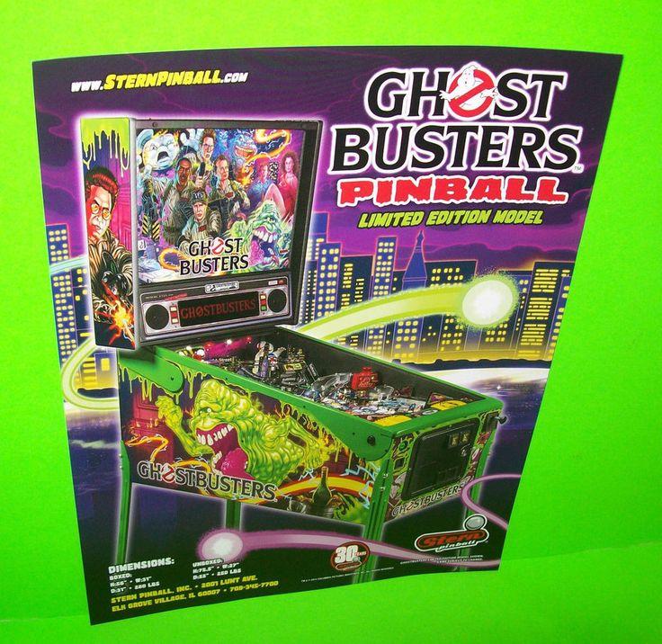 GHOSTBUSTERS LE Original STERN Flipper PINBALL MACHINE Sales FLYER Limited Ed.  #Stern #GhostbustersLE #PinballFlyer