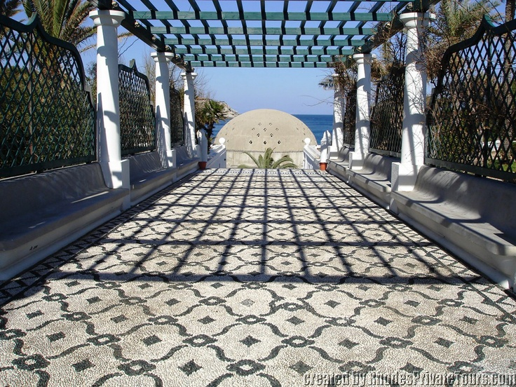 The entrance of Kalithea Spa - The East Coast Rhodes Island Greece