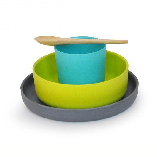 Ekobo child's bamboo dishware set