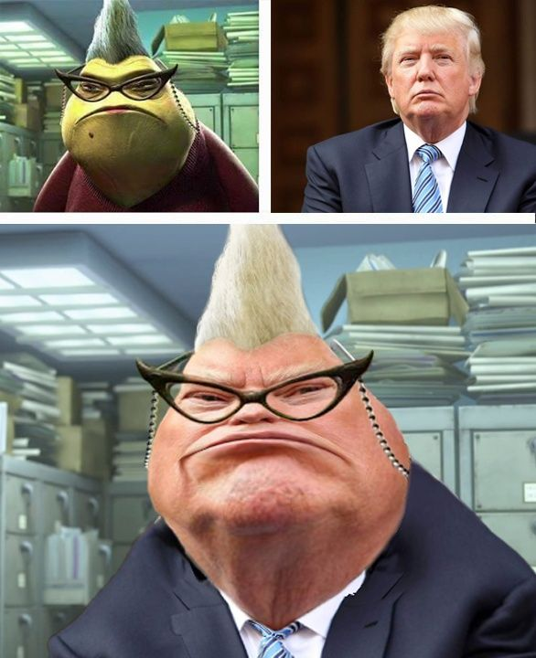 GAGBAY - Funny memes donald trump monsters inc