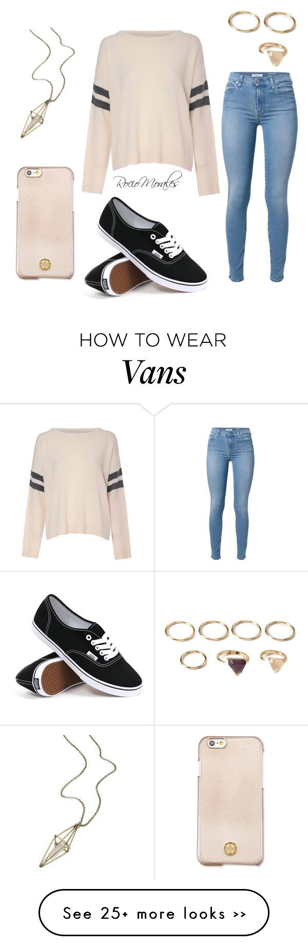"""Untitled #211"" by rocio06morales on Polyvore featuring Vans, Glamorous, 7 For All Mankind, Tory Burch, maurices and Forever 21"