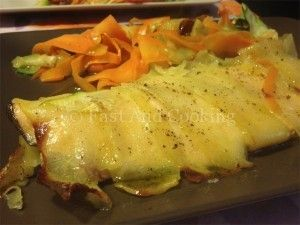 Trota salmonata in crosta di patate