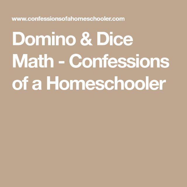 Domino & Dice Math - Confessions of a Homeschooler