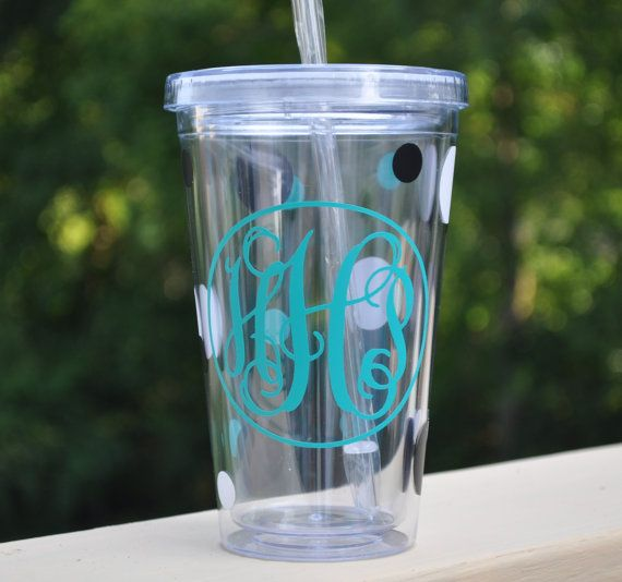Diy kit for acrylic tumblers monogram decal easy to apply