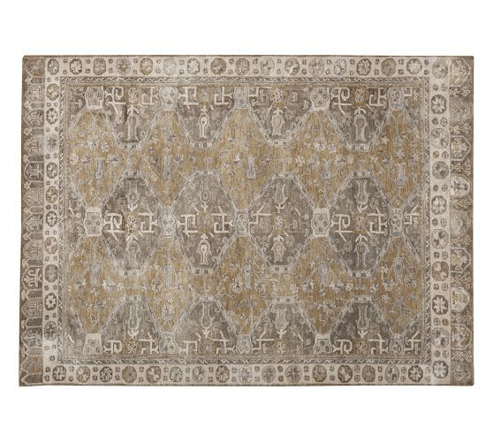 Nora Persian Style Rug Neutral Pottery Barn Dinning