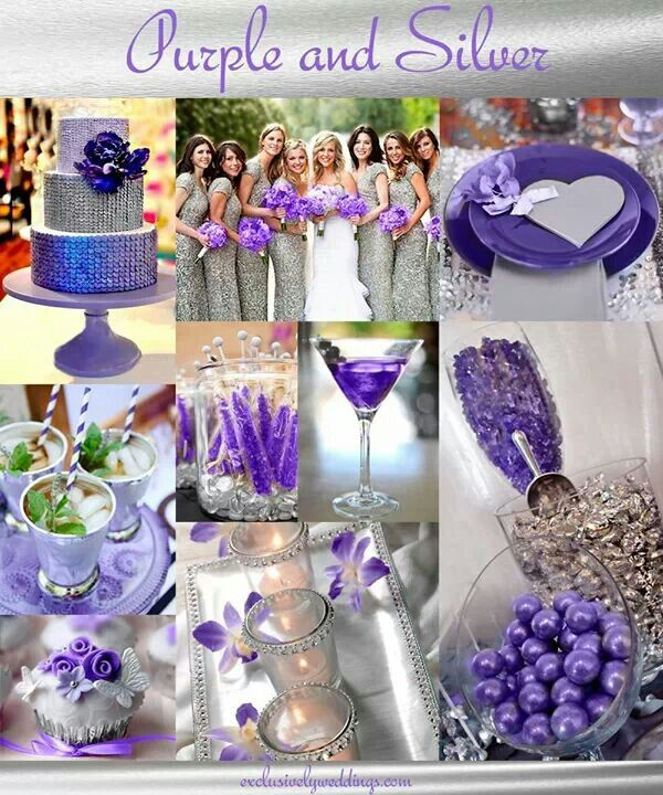 Purple and silver wedding inspiration pinterest - Purple and silver color scheme ...