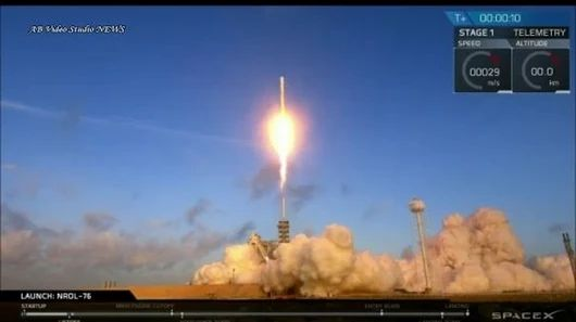SpaceX Falcon-9 Launch of NORL-76 Satellite and landed to Kennedy Space Cente...