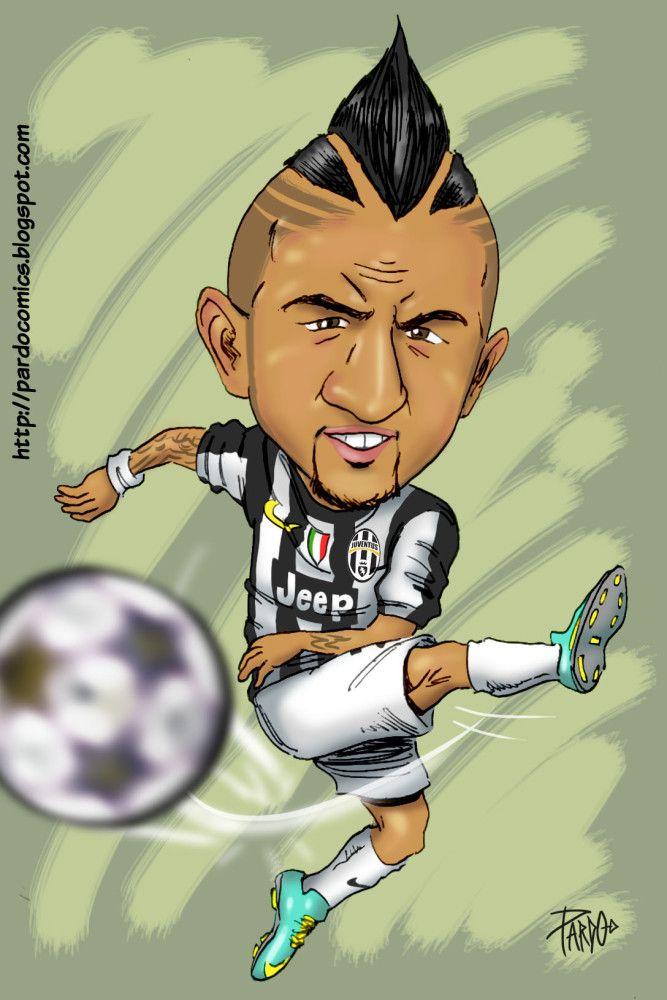 Arturo Vidal (Juventus)   CARICATURAS   Football, Soccer ...