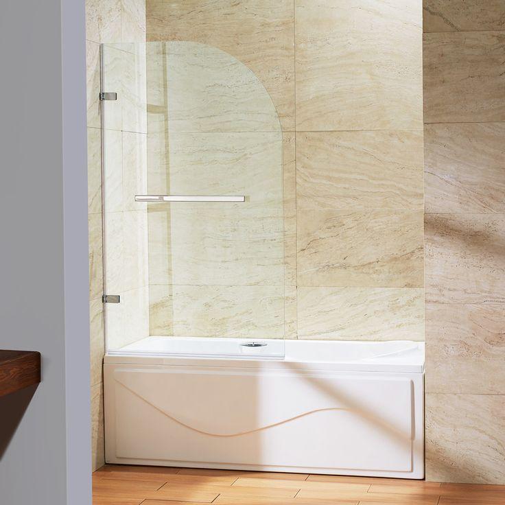 Vigo Orion Clear Curved Bathtub Door