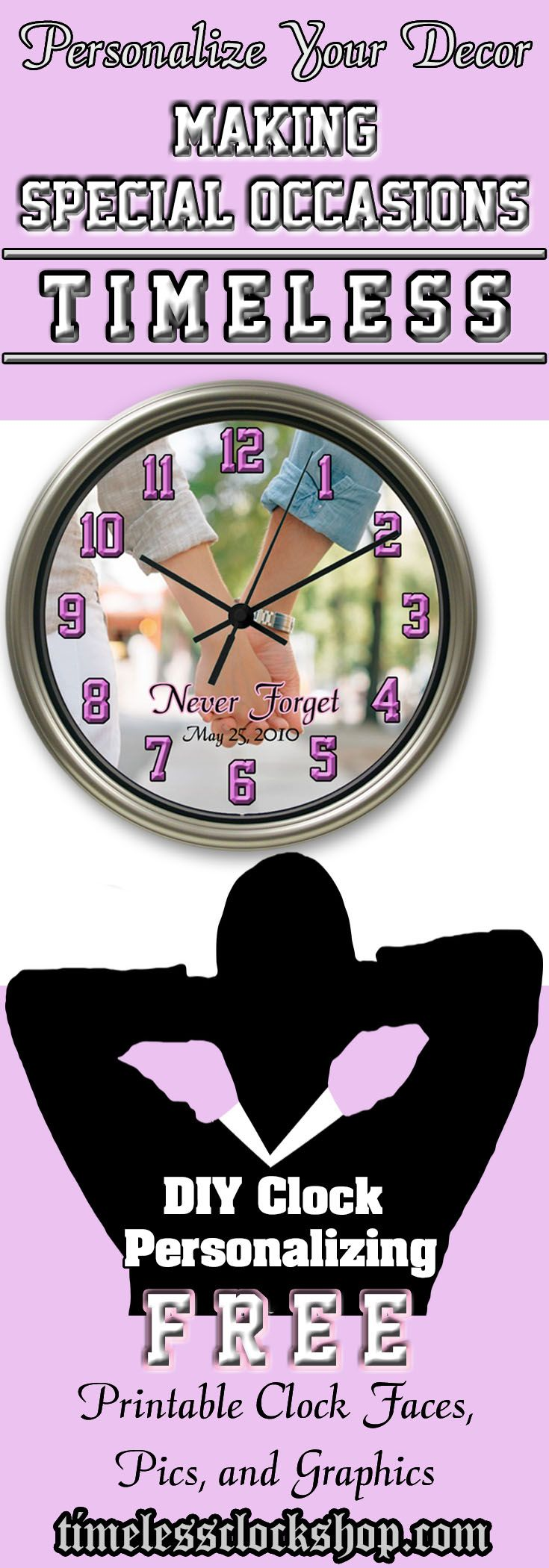 20 ide photo wall clocks terbaik di pinterest make your photo wall decor absolutely original with a personalized wall clock if you are looking for creative gift ideas sincerely thoughtful gifts amipublicfo Images
