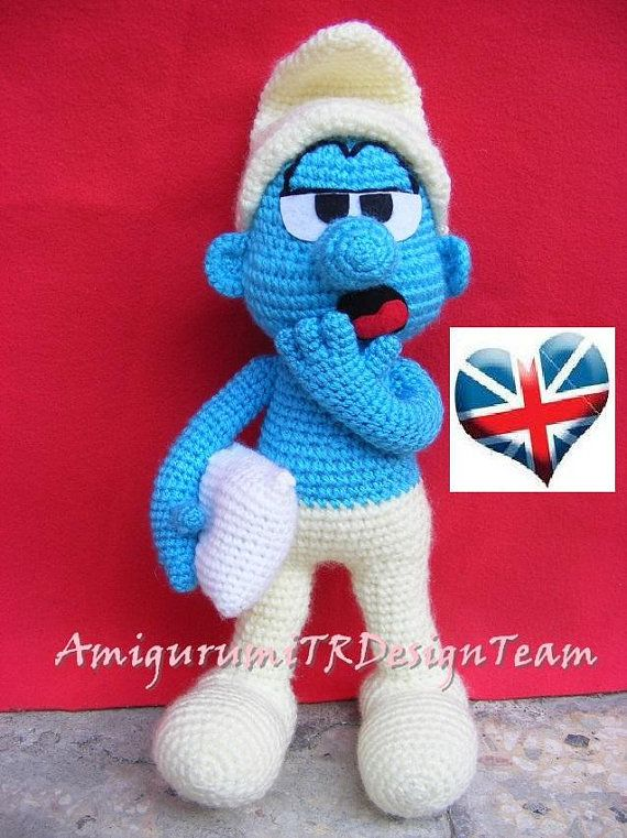 Lazy Smurf-AmigurumiTRDesignTeam by AMIGURUMITRDESIGN on Etsy