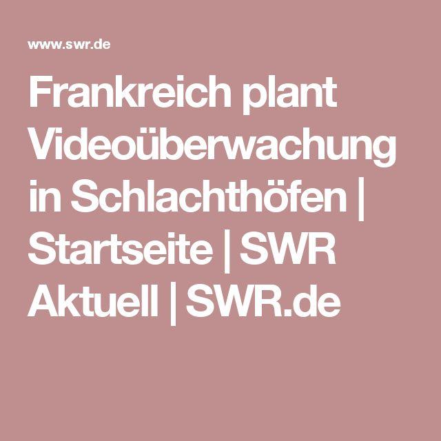 Frankreich plant Videoüberwachung in Schlachthöfen   Startseite   SWR Aktuell   SWR.de