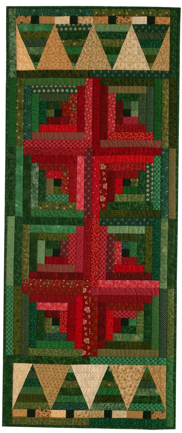 Free Download Table Runner Patterns | Free Christmas Table Runner Pattern: Christmas in the Cabin | December ...