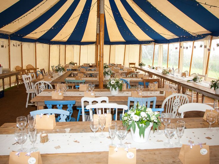 23 best colourful wedding chairs images on pinterest wedding polhawn fort devon vintage chair wedding reception using our white and blue range for hire in junglespirit Gallery