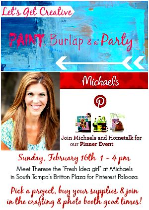 Lets Get Creative with Paint, Burlap and a Party #mpinterestparty