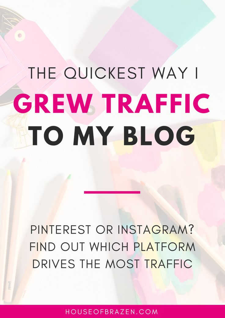 Pinterest or Instagram? Which drives the most traffic? Learn the quickest way I grew my blog traffic using one of these social media platforms.