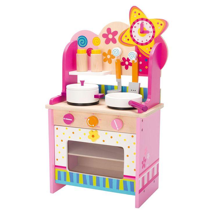 Een mooie roze keuken. Welk meisje droomt er niet van om met zoiets moois te spelen. Geschikt voor kindjes vanaf 3 jaar. Te vinden bij Sassefras Meisjes Speelgoed voor écht peuter en kleuter speelgoed.