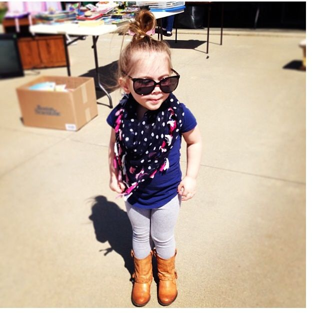 Little Girl Fashion <3 love Aubree Houska and how Chelsea dresses her!!