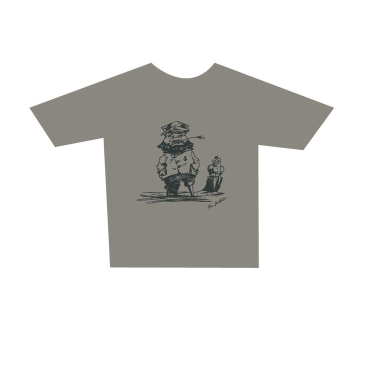 Adult Fisher t-shirt, zinc. Buy form Holvi webstore. #t-shirt #mariner #captain #sea #seagul #mastermariner