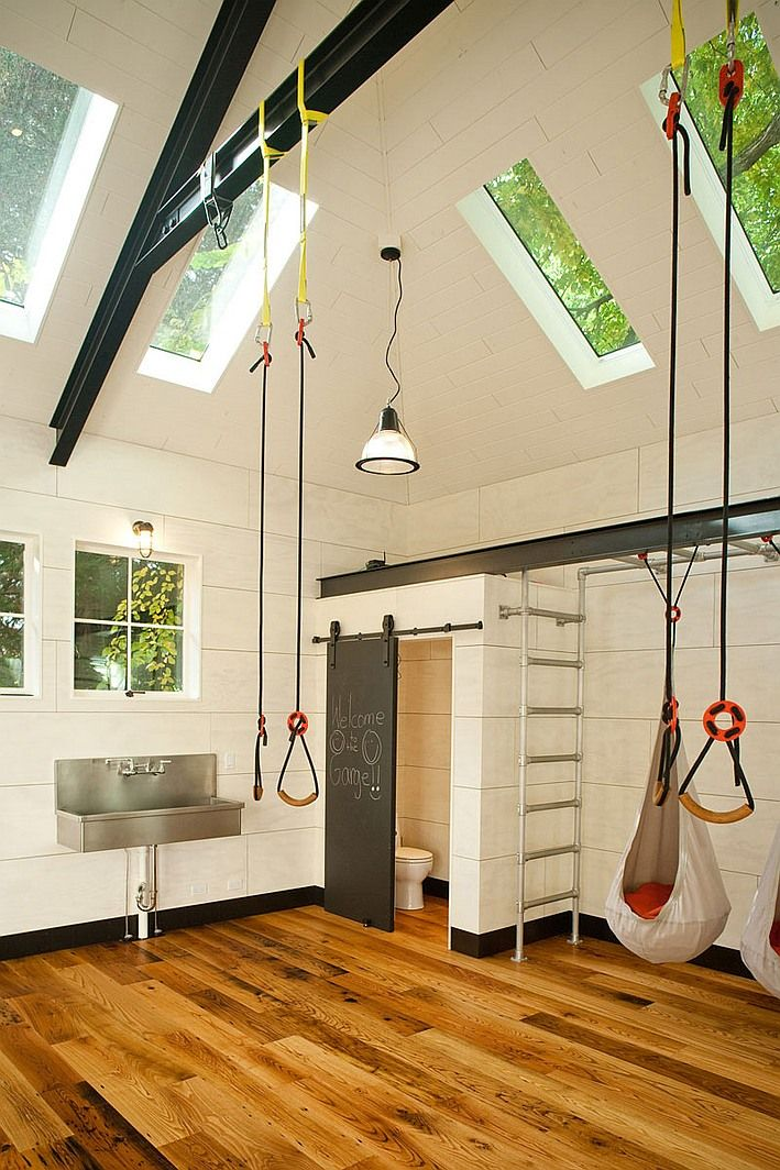 This Spacious Home Gym In Seattle Was A Garage Before Menter Architects  Transformed It Into A Familyu0027s Dream Multi Purpose Space.