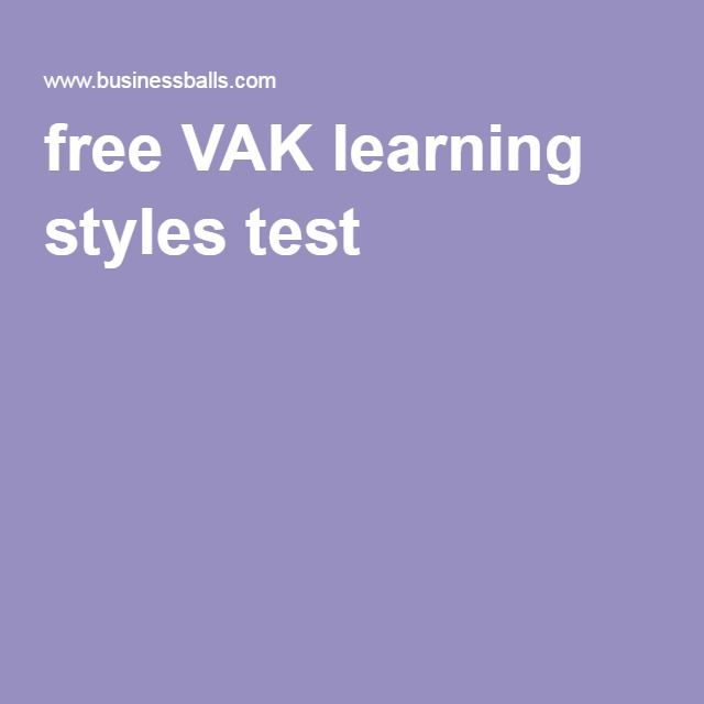 Vak learning styles test